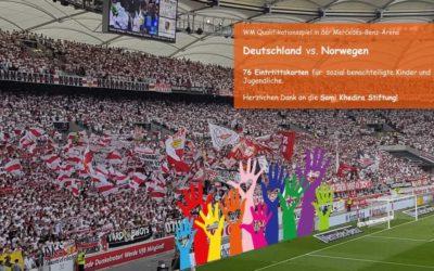 WM–Qualifikationsspiel Deutschland gegen Norwegen